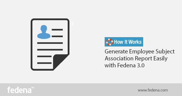 Employee Subject Association Report