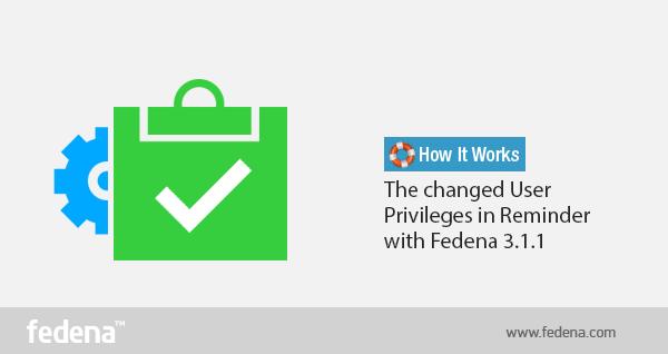 User Privileges in Reminder
