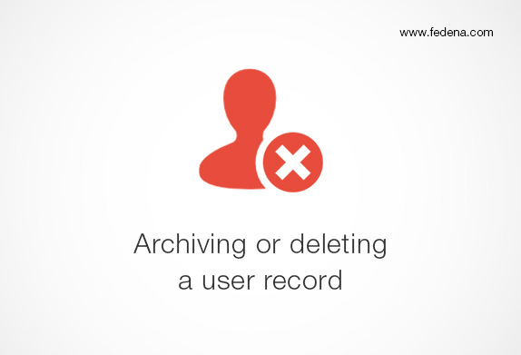 how to archive or delete user record