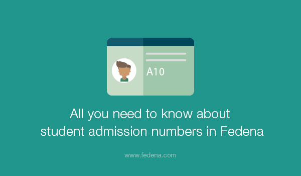 student admission numbers in Fedena