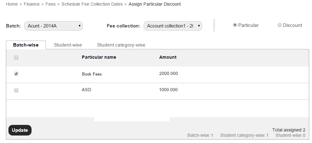 Managing student fee collections1