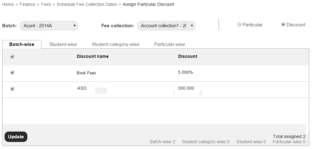 Managing student fee collections2