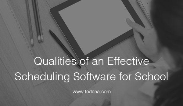 Scheduling Software for School