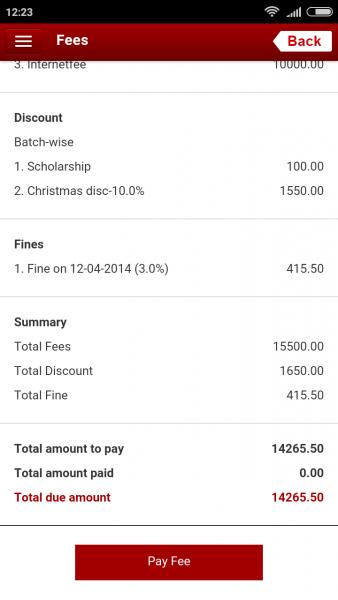 Fedena 3.5 Payment portal page