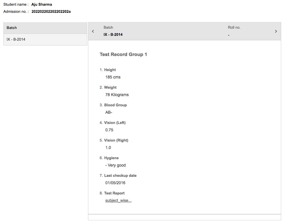 Fedena Student Records Screenshot 3