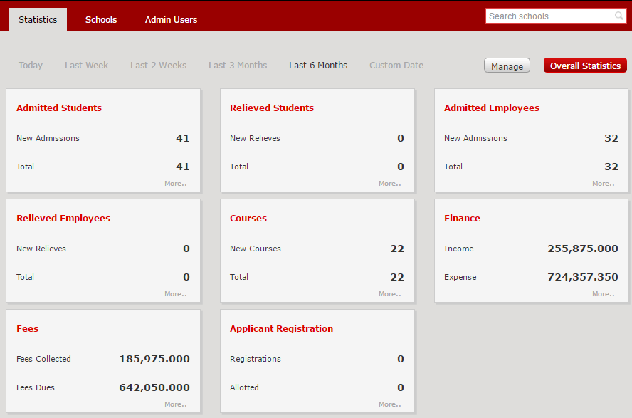 Fedena multi school erp system screenshot 5