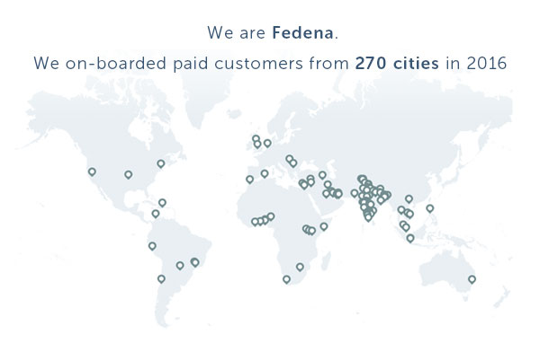 Fedena customer map image