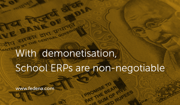 School ERP demonetization Fedena