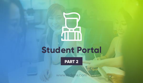 Student portal in school ERP software