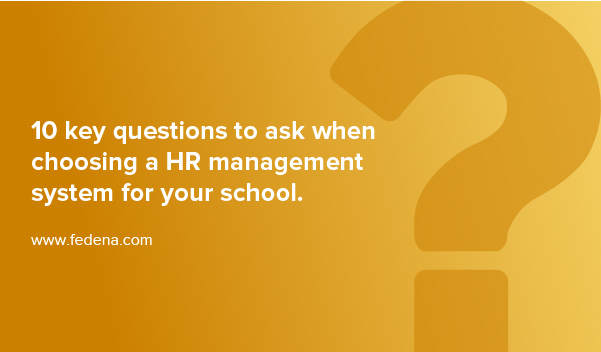 HR management system for school
