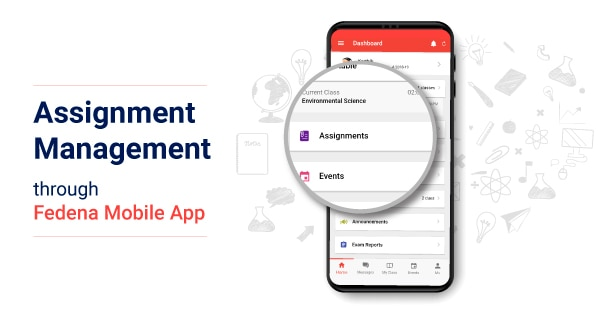 Assignment Module in Fedena Mobile App
