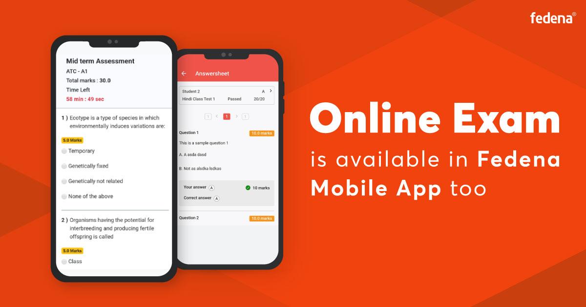 Online exam in mobile app